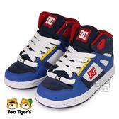 美國 DC 黃x紅x藍 高筒 鞋帶款 滑板鞋 中大童 NO.R3558