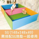 韓國ALZIPMAT 無毒/安全/圍欄--遊戲城堡SG (148*248*40)--需購買地墊合併使用~麗兒采家