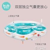 KUB可優比嬰兒脖圈寶寶游泳圈新生兒柔軟充氣頸圈加厚雙氣囊 【快速出貨】