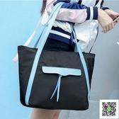 新款韓版牛津布包單肩包女手提包女包托特包大包包休閒包潮女