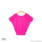漢神獨家【INI】優雅質感、專櫃肩膀手袖造型針織上衣.桃紅色