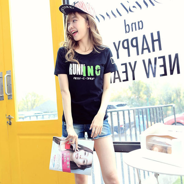 24小時快速出貨 情侶裝 純棉短T MIT台灣製造【Y0288】短袖-RUNING 可單買 男女可穿 班服
