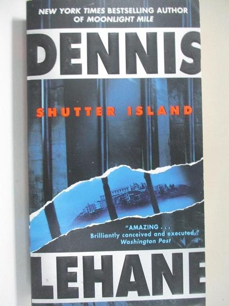 【書寶二手書T4/原文小說_HO7】Shutter Island_Lehane, Dennis