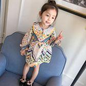 女童嬰兒童連身裙春裝新款韓女寶寶小童長袖公主裙子1-2-3歲4【卡米優品】