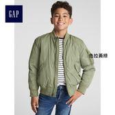 Gap男童 柔軟直筒長袖短款棉服 370539-色拉黃綠