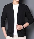 針織外套 男士針織衫開衫外套韓版修身外穿毛衣外套潮流薄款線衣褂子【快速出貨八折鉅惠】!