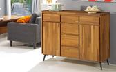 【森可家居】維迪4 尺柚木餐櫃7JF406 1 廚房收納櫃木紋 北歐工業風