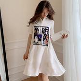 A字襯衫連身裙 _【特洛衣城】BFS21598