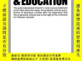 二手書博民逛書店[英文]杜威《經驗與教育》Experience罕見And EducationY169321 John Dewe
