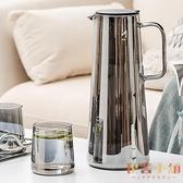 冷水壺玻璃耐高溫家用涼水杯大容量涼白開水杯茶壺【倪醬小舖】