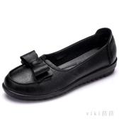 40歲媽媽鞋軟底單鞋中老年鞋50婦女舒適真皮防滑中年老人皮鞋 OO1717【VIKI菈菈】