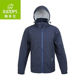 【瑞多仕 RATOPS 男 2.5layer防水透濕夾克《灰藍》】RAW-104/保暖外套/風衣/旅遊