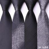 領帶 男士正裝商務8cm黑色條紋新郎結婚學生英倫禮品 QQ11278『bad boy時尚』