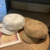貝雷帽百搭米色英倫復古帽子日系帽子【少女顏究院】
