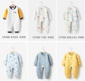 嬰兒保暖衣 嬰兒連身衣春秋季冬裝保暖男女寶寶長袖睡衣哈衣爬服新生兒衣服