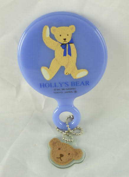 【震撼精品百貨】Holly's Bear 泰迪熊~巧妝鏡『藍紫』