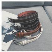 韓版百搭男士針扣潮帆布編織休閒皮帶LYH2919【大尺碼女王】
