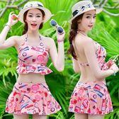 泳衣(兩件式)-比基尼-韓版時尚口紅印花女泳裝-2色73mb6[時尚巴黎]