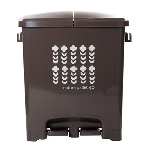【this-this】踩踏式二分類垃圾桶40L-可可棕色