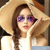 墨鏡新款偏光太陽鏡女潮個性明星同款墨鏡韓國蛤蟆眼鏡圓臉眼鏡女 快速出貨