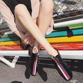 低跟鞋 百搭正韓低跟鞋絲絨繫帶拼色小皮鞋絨面粗跟單鞋女  快速出貨
