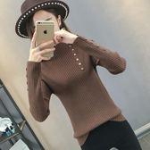 半高領毛衣女套頭韓版修身長袖打底衫2018秋冬新款內搭緊身針織衫