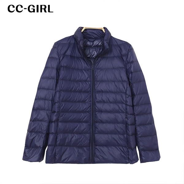 中大尺碼 保暖立領羽絨外套~共四色(附收納袋) - 適XL~4L《 19068GH 》CC-GIRL
