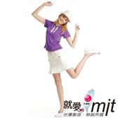 【瑪蒂斯】女短POLO衫(奢華紫) 抗UV奈米竹炭排汗衣(百和黑絲絨) 浪漫蕾絲G6212