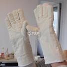隔熱手套 五指加長烤箱微波爐耐高溫防燙耐磨隔熱加厚勞保防護工業烘培手套