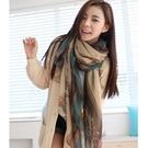 韓版新款棉麻圍巾絲巾長款披肩沙灘巾兩用