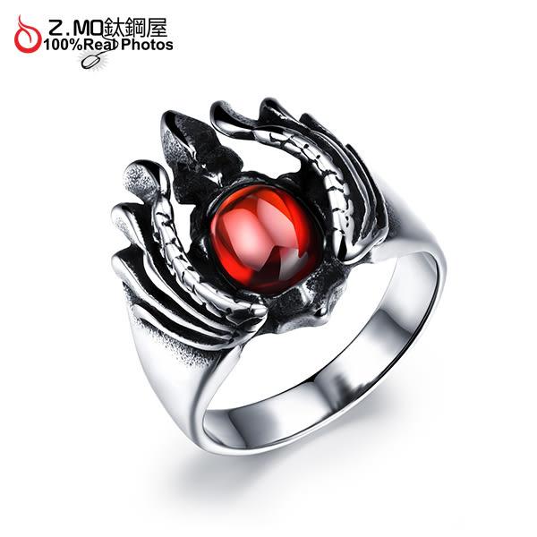 [Z-MO鈦鋼屋]316L鈦鋼戒指/紅寶石戒指/時尚百搭/酷派時尚/整體造型搭配推薦/單個價【BKS489】