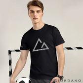 【GIORDANO】男款G-MOTION素色LOGO運動短袖上衣-91 標誌黑
