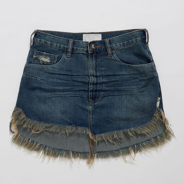 ONETEASPOON DIRTY INDIGO VANGUARD MID RISE 牛仔短裙-深藍(女)