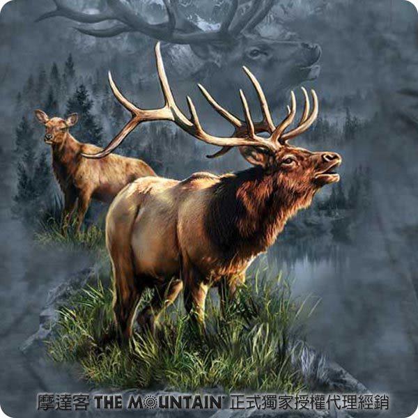 【摩達客】 (預購) 美國進口【The Mountain】自然純棉系列 麋鹿守護者 T恤(10413045119a)
