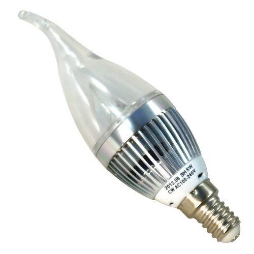 順合 7W LED火焰型拉尾燈泡 全電壓 E14燈頭 (白光/黃光)