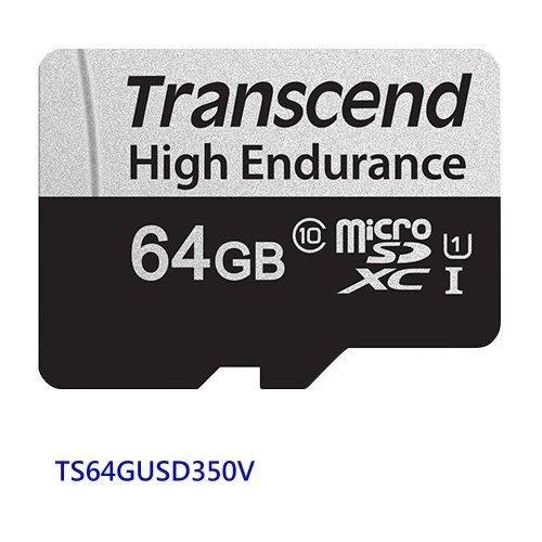 創見 高耐用記憶卡 【TS64GUSD350V】 64GB micro-SDXC 行車記錄器 監視攝影機 新風尚潮流