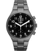 FOSSIL 大視窗旗艦復刻計時腕錶/手錶-黑x鐵灰 CH2905