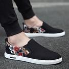懶人鞋 夏季男鞋駕車韓版潮流百搭帆布鞋男士一腳蹬休閒懶人鞋老北京布鞋