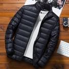 男羽絨服 輕薄羽絨服2020年新款男士秋冬潮牌短款潮流帥氣冬季加厚超薄外套