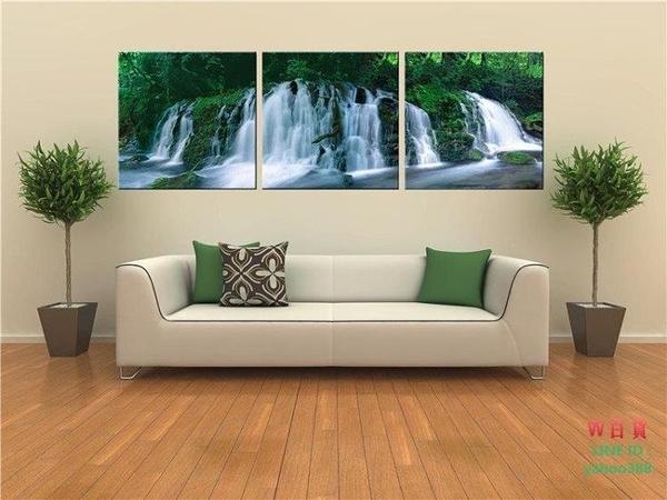 風景壁畫 現代裝飾畫無框畫 瀑布 1717(W180)