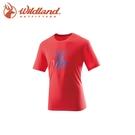 【Wildland 男 仿棉印花抗UV圓領衣《紅》】21610/吸濕/排汗/抗UV/短袖/棉T