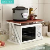 廚房置物架微波爐架子烤箱架雙2層免打孔收納架落地省空間調料架MBS『潮流世家』