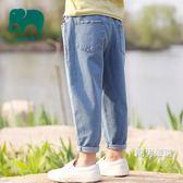 優惠兩天-牛仔長褲兒童牛仔褲2018夏裝新品中大童男童春秋款長褲薄款寶寶褲子夏季潮