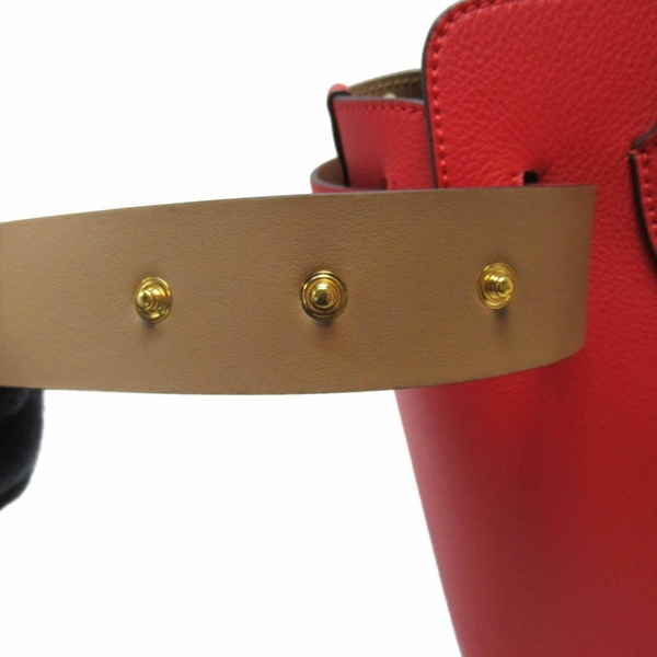 BURBERRY 巴寶莉 紅色牛皮Triple Stud Belt系列手提肩背包 8011213【BRAND OFF】