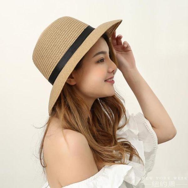 遮陽帽 海邊 防曬 帽可折疊大沿旅游