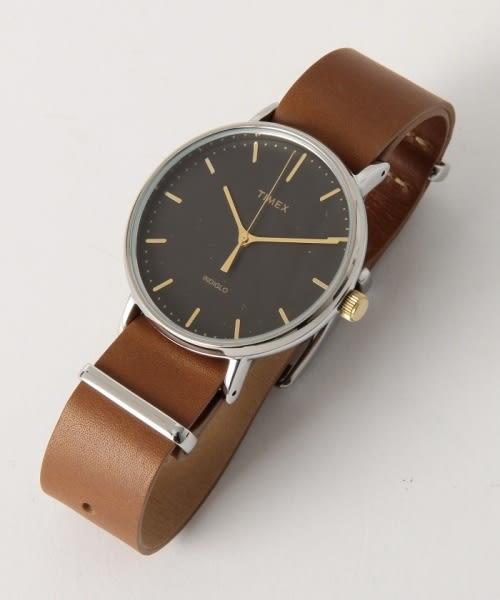 【TIMEX】天美時週末Fairfield系列時尚手錶 (黑/金/咖啡 TXT2P97900)