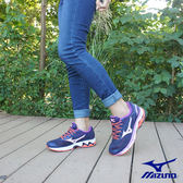【MIZUNO 促銷7折】MIZUNO (女) WAVE INSPIRE 13 WIDE (W) 寬楦女慢跑鞋 / 藍紫