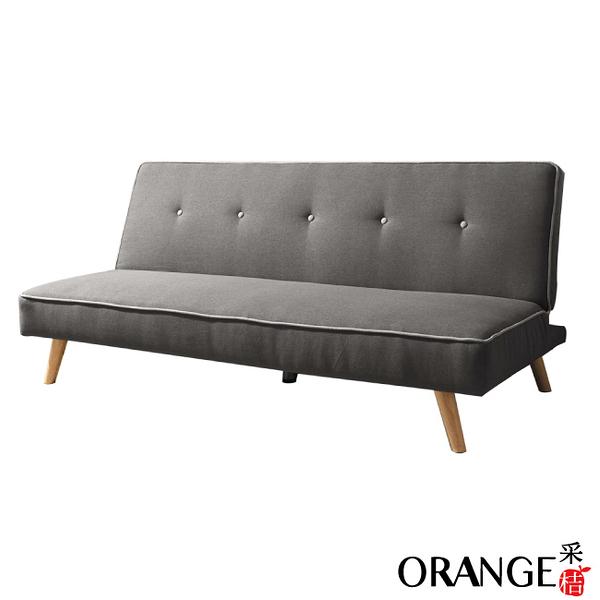 【采桔家居】瑪爾斯 現代灰亞麻布機能沙發/沙發床(展開式機能設計)