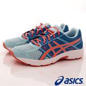 【ASICS】運動童鞋-流線透氣運動款(大童)海洋藍橘-707N-1406