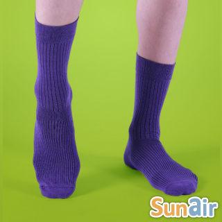 sunair 滅菌除臭襪子-時尚紳士襪L(25~29) (紫)  /SA0705